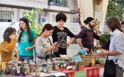 a seed exchange during the Let's Liberate Diversity! Forums