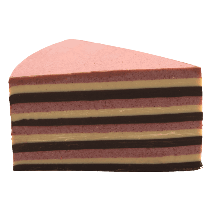 ottavio  raspberry, dark and white gianduja