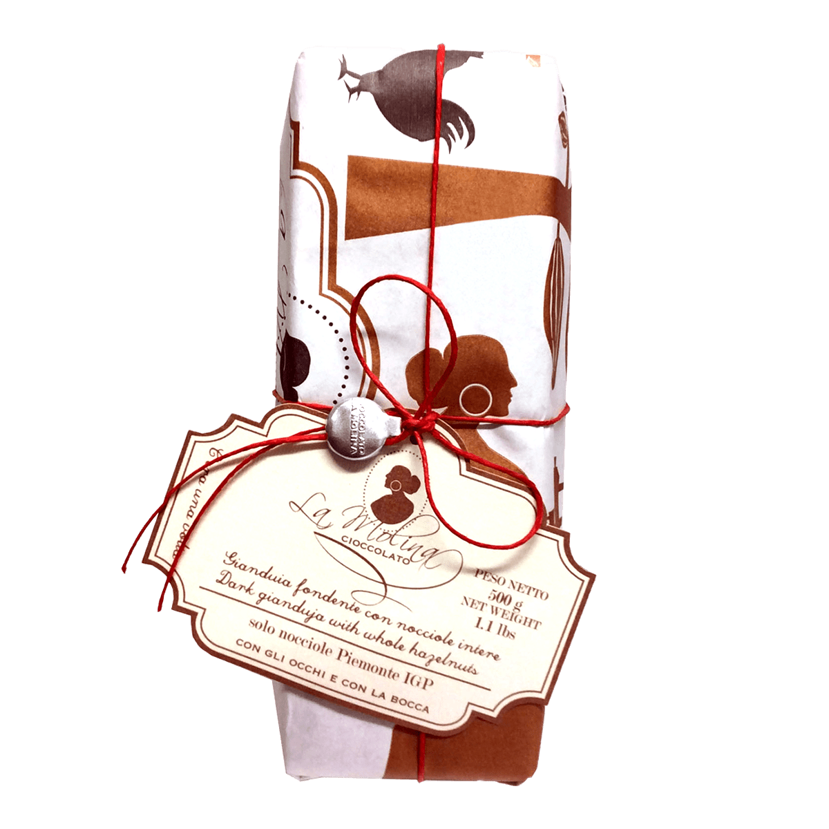 ONCE UPON A TIME dark gianduja with whole hazelnuts 500 g