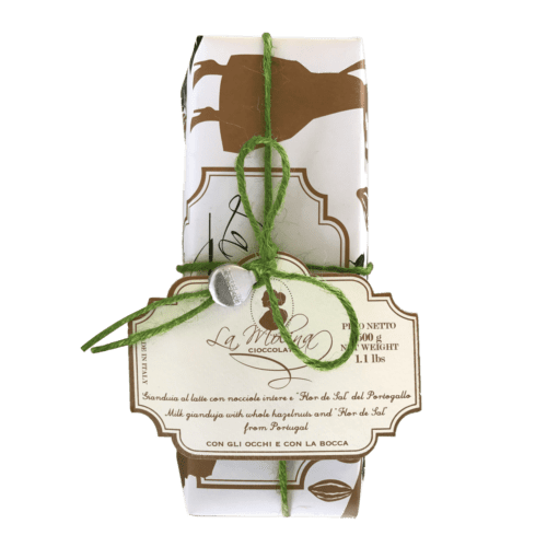 ONCE UPON A TIME salted milk gianduja with whole hazelnuts ,500 gr