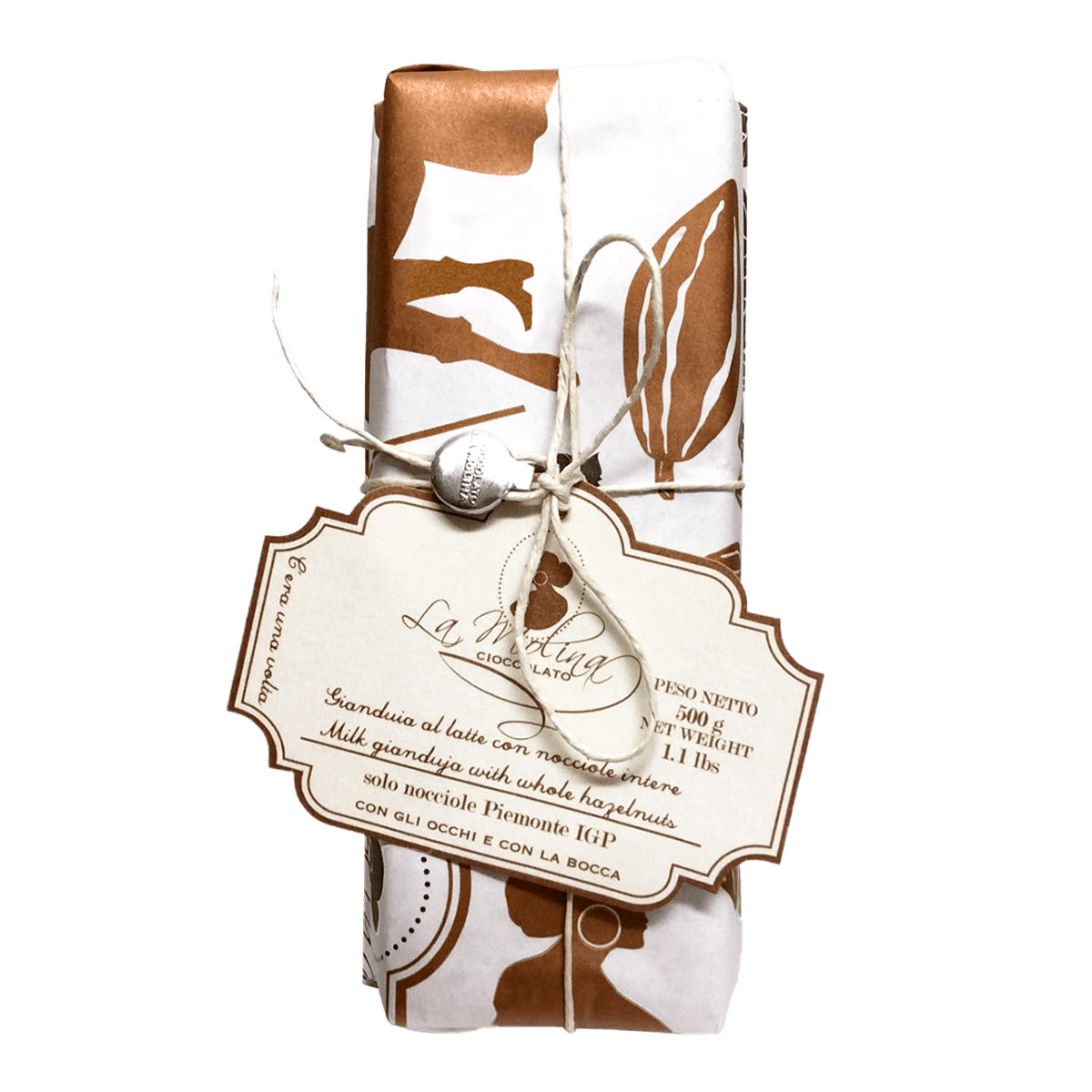 ONCE UPON A TIME milk gianduja with whole hazelnuts ,500 gr